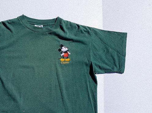 90's Classic Green Stripe Mickey Tee L-XL
