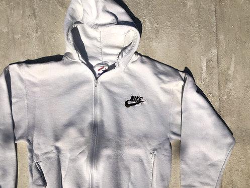 90s Nike Bootleg White Zip Hoodie M/L