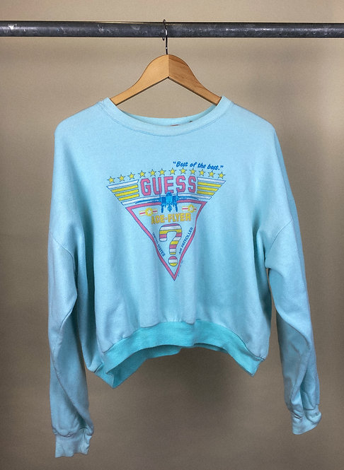 1987 Guess Flight Crop Crew L