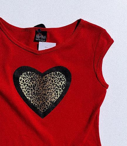 90s Lil Cheetah Girl Heart Grunge Top
