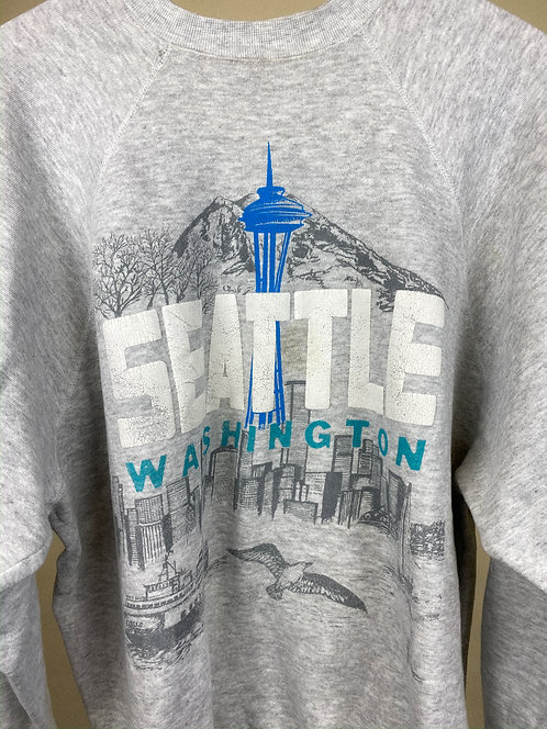 90s Seattle Space Needle Heather Crew XL