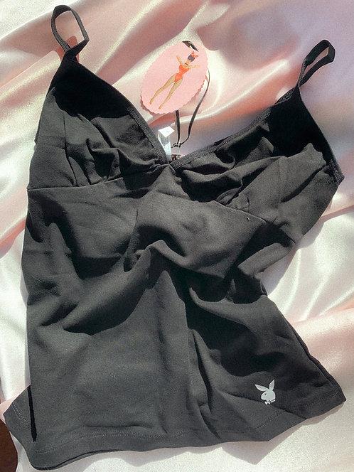 Y2k B & W Playboy Cotton Cami M/L