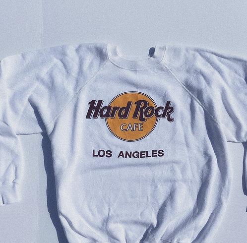 80s Classic AF Hardrock LA White Crew M