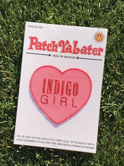 Indigo Girl 90's Heart Patch