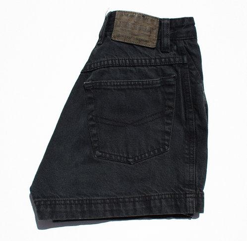 "24"" 90s Union Bay Faded Black Perf Denim Shorts"