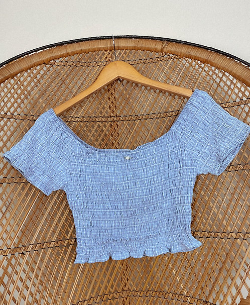 90's Cotton Princess Ass Smocked Top M-L