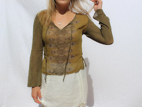 90's Phoebe Ass Love Child Sheer Top S/M