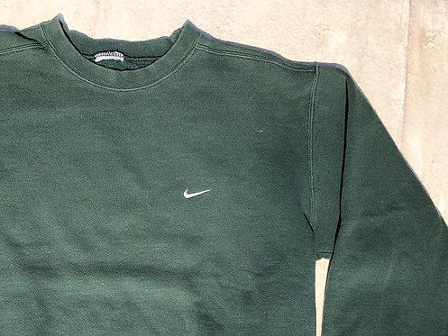 90s Nike Ivy Green Chest Logo Crew L