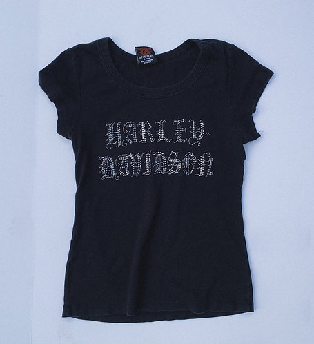 Harley Scriptue Bedazzled BB Tee M