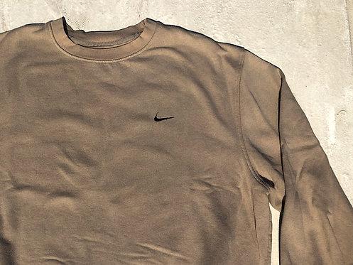 Y2K Nike Smooth Sand Chest Logo Crew L