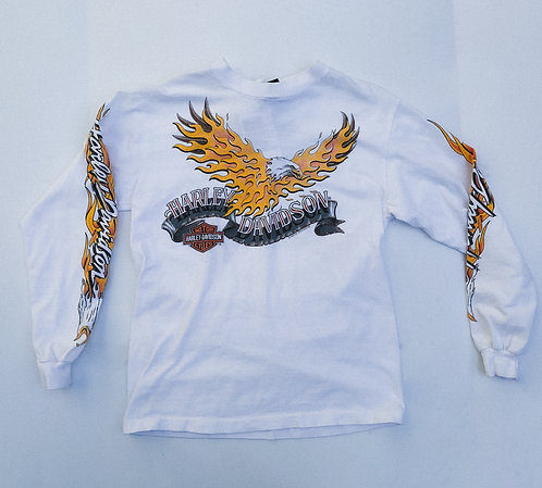 "1992 Harley Flames ""Chicks"" Long Sleeve S"