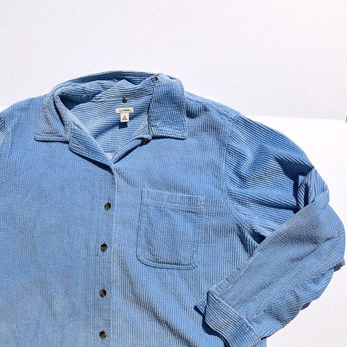 90s Sky Blue Everyday Cord Button L-XL