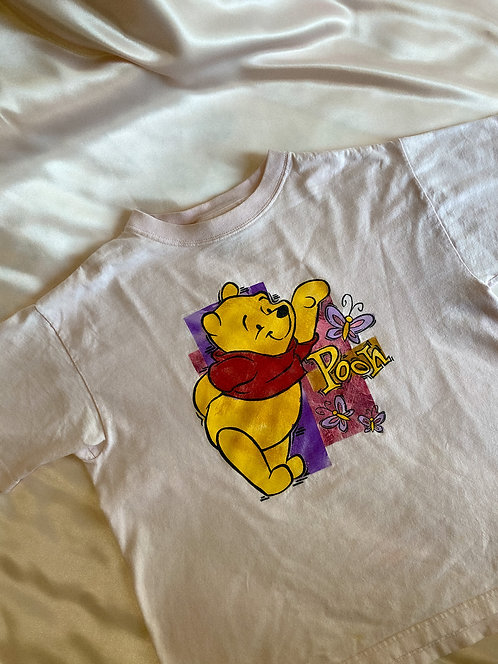 90's Pooh Flower Pink Baby Tee S/M