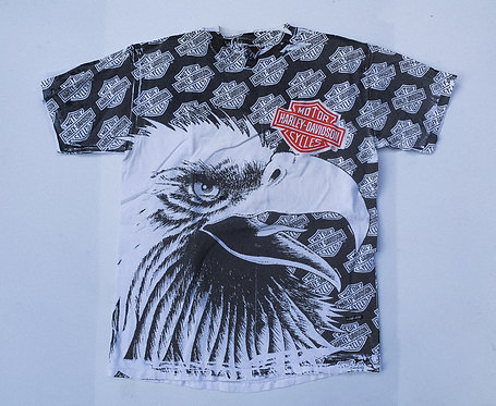 90s Harley All Over Print Big Eagle Tee M