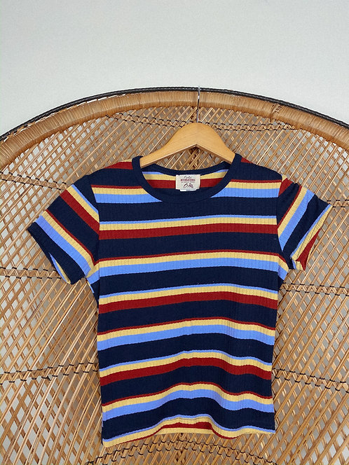 90's Classic Striped Color Pop Tee S-M