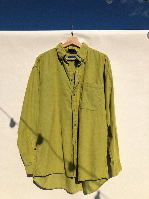 Pendleton Lime-Dyed Micro-Corduroy Button