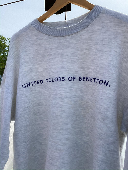 90s Bennetton Classic Heather Oversized Crew L/XL