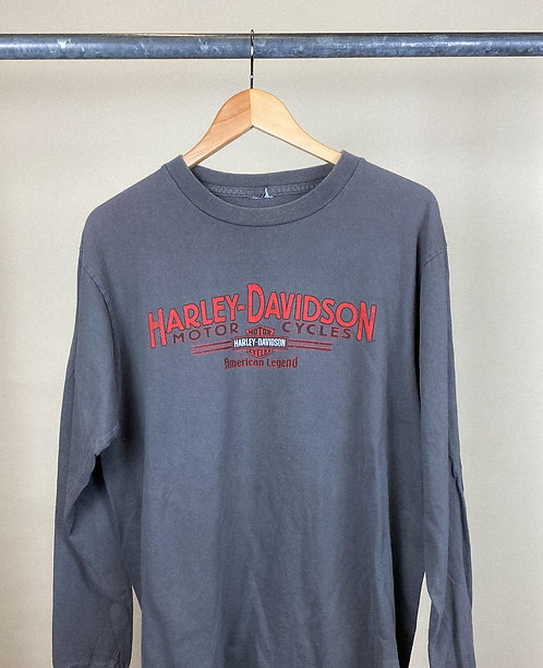 Y2K Harley Redwood City Slate Grey Long Sleeve XL