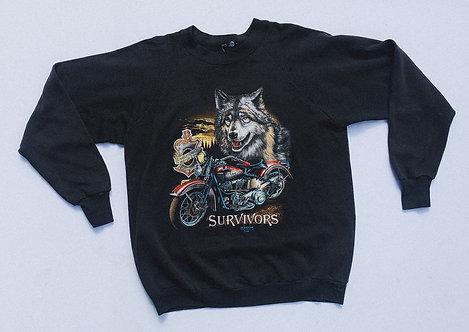 """1991 Harley 3D Emblem """"Survivors"""" Crew L"""