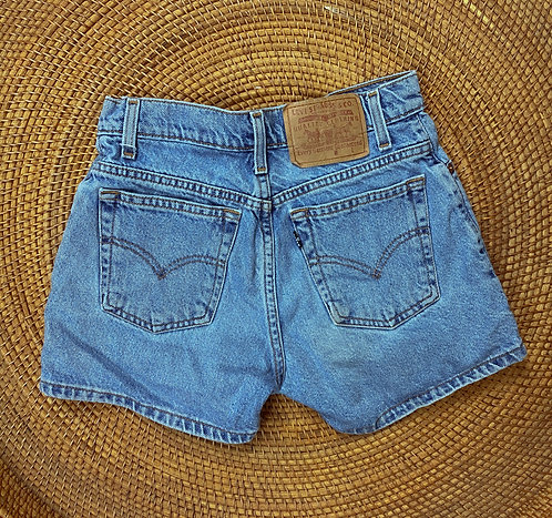 "26/27"" Vtg Levi's Lightwash Button Fly Denim Shorts"