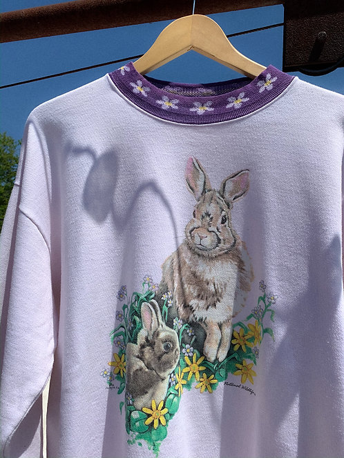 90s Easter Bunny BB Spring Crew M/L