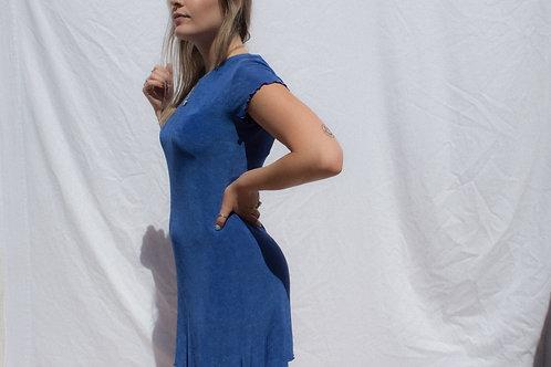 90s Citi Dress Ocean Blues Slinky Mini S/M