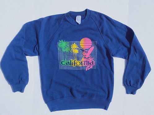80s California Blue Beach Boy Crew M-L