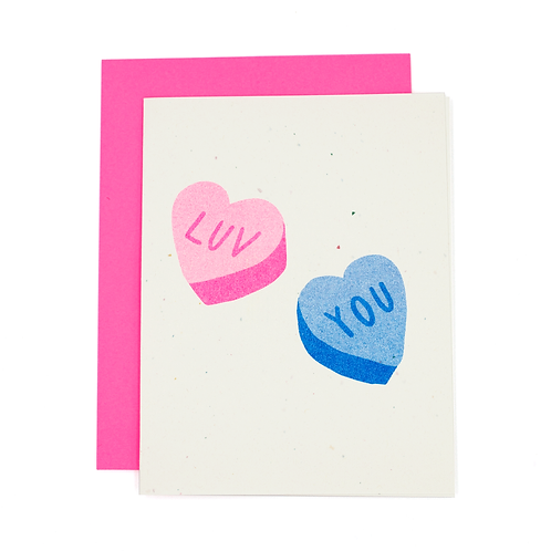 Luv You Candy Hearts Small Batch Card