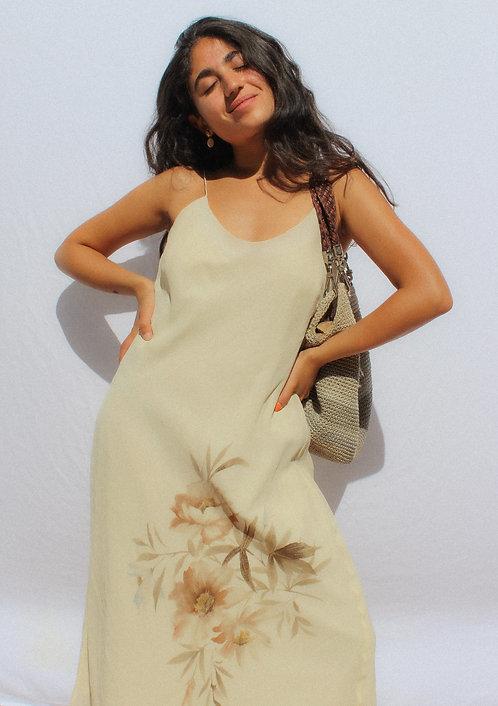 90's Silk Ralph Lauren STUNNING Sunday Dress WOW S-M
