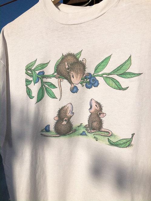 90s Blueberry Mice Tee L