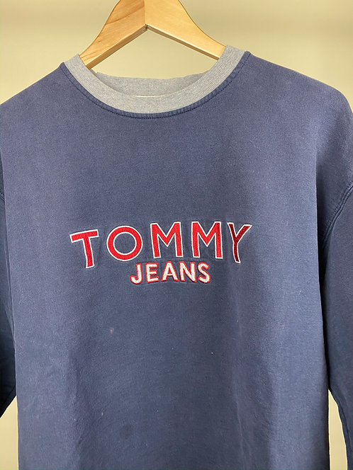 90s Tommy Jeans Cozy Navy Crew M/L