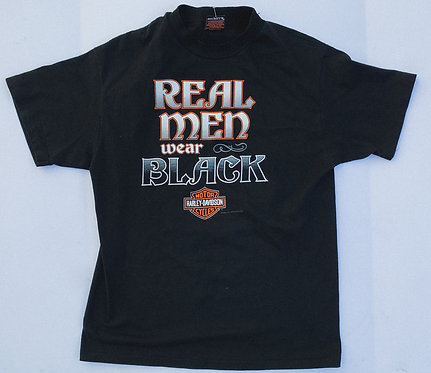 "Harley ""Real Men Wear Black"" Tee L"
