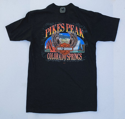 1998 Pike's Peak Harley Pocket Logo Tee M