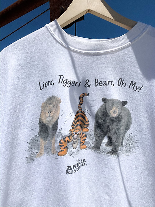 "Vtg Tigger ""Lion's, Tiggers, and Bears"" Tee XL"