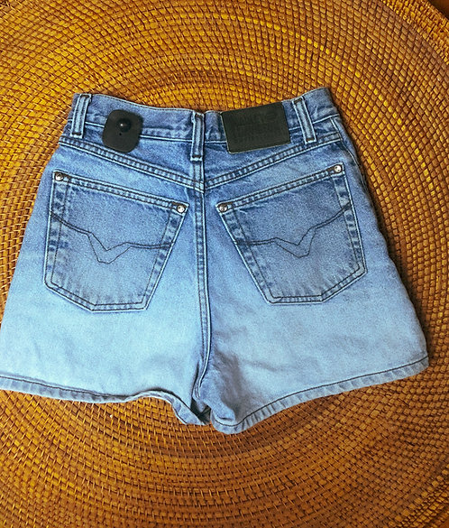 "26"" Vtg Harley Gradient Wash Denim Shorts"