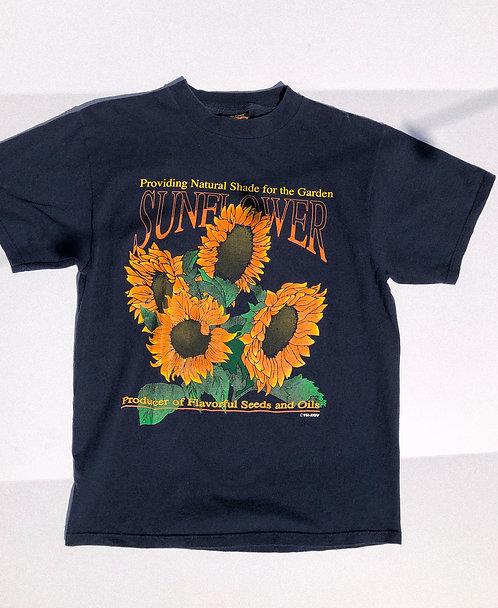 90s Sunflower Navy Tee MEDIUM