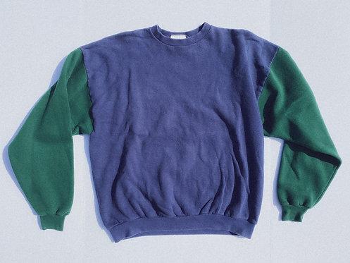 90s Classic AF Adidas Color Block Crew L-XL