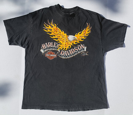 1992 Harley Fire Eagle Perfectly Worn Tee L