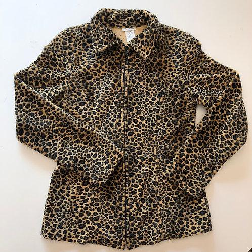 90's Charlotte Russe Leopard Zip-up Jacket
