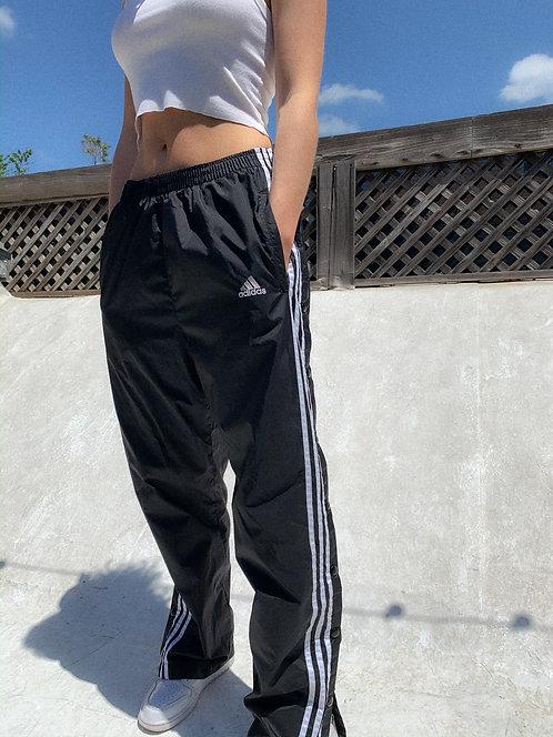 90s Adidas Tear-Away Track Pants S