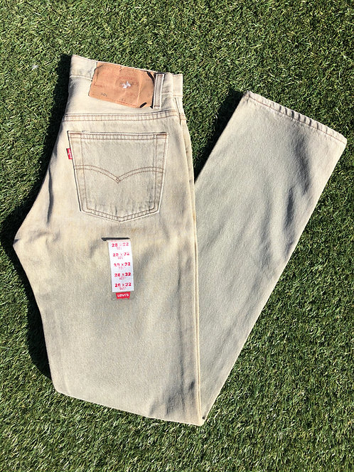 "90s 25/26"" Levi's Deadstock Stone Pastel Green 501 Denim"