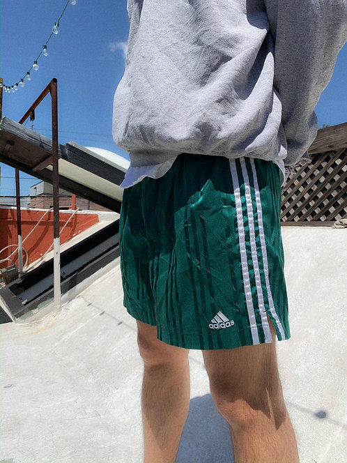 90s Adidas Ivy Green Track Shorts M