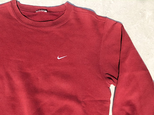 90s Nike Ruby Chest Logo Crew M/L
