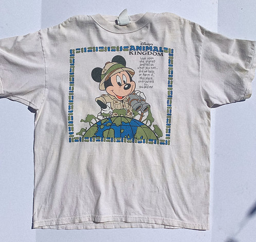 90's Safari Mickey Cute Tee XL