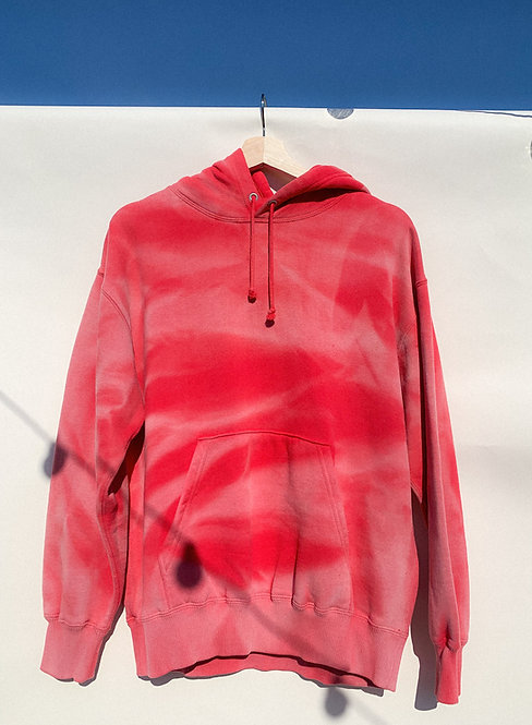 Sun Bleached Ruby Red Hoodie M/L