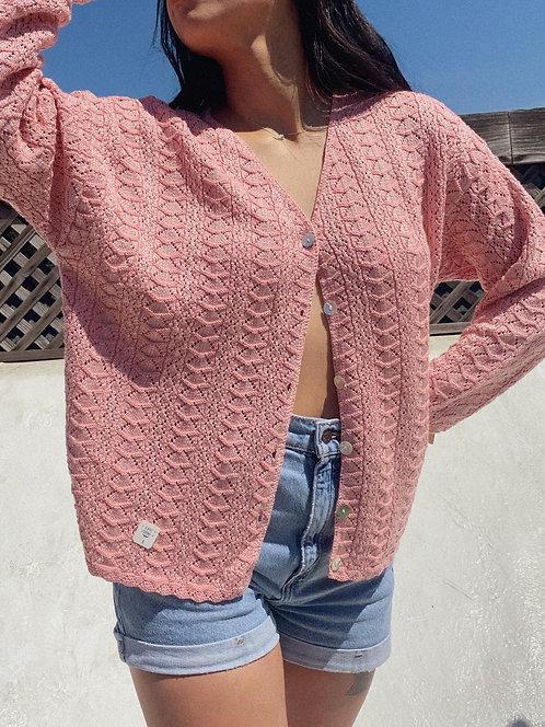 VTG Princess Pink Knit Cardi S-L