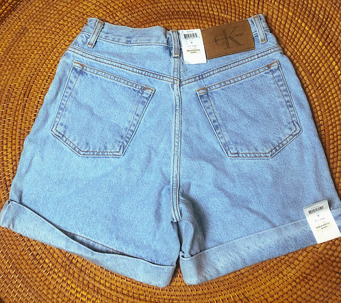 "27"" 90s Calvin Klein Deadstock Lightwash Denim Shorts"