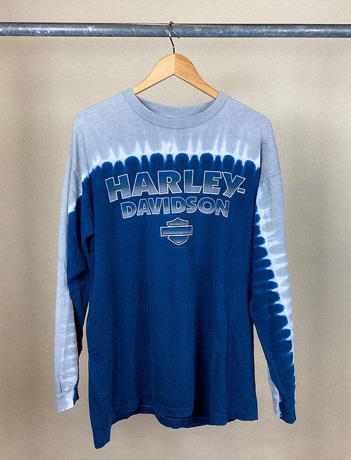 1999 Harley Tie-Dye Block Print Long Sleeve XL