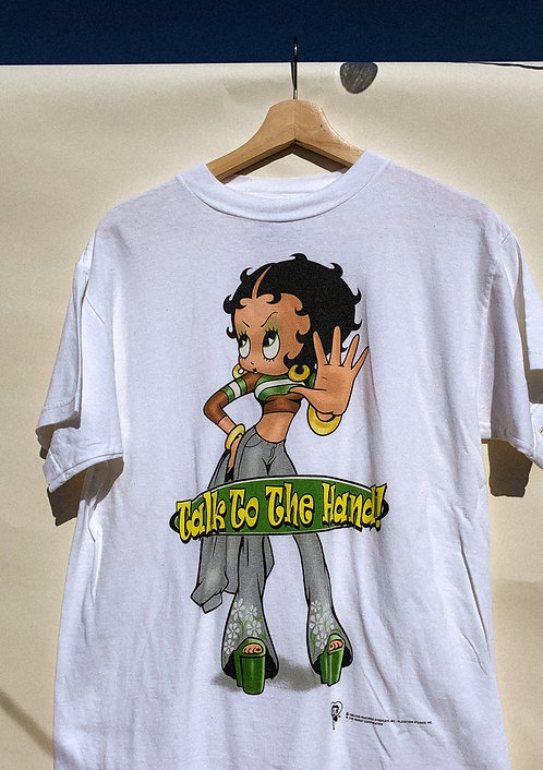 """90s BOOP """"Talk To The Hand"""" Tee M"""