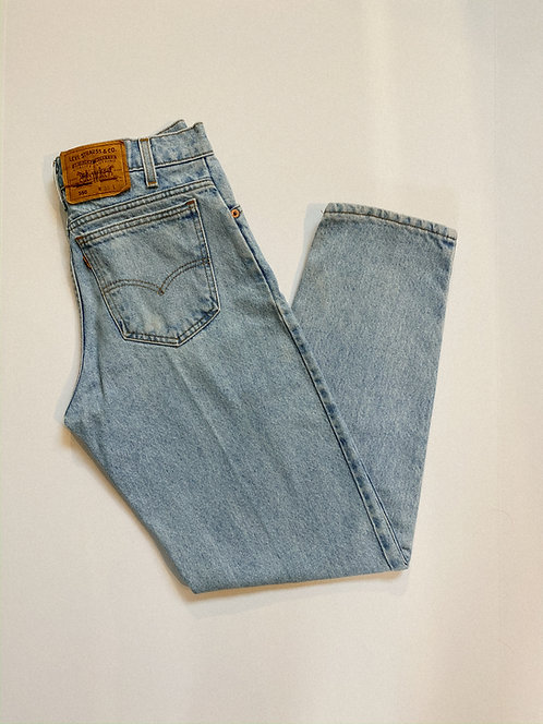 "30"" Ultra Light Wash Levi's 550 Orange Tab Denim"
